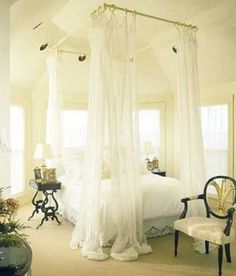 3 Ceiling Mount Curtain Rods Canopy Bed The Hanger Curtain Rods