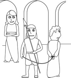 Isaiah Coloring Page: I saw the Lord, high and lifted up