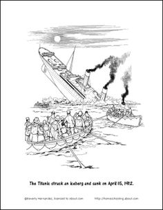 1000+ images about TITANIC COLORING PAGES on Pinterest