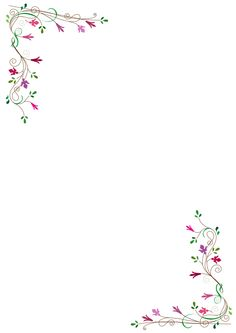 Printable flower corner border. Use the border in