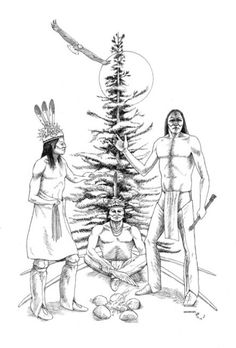 On a turtle's back: this is one native american creation