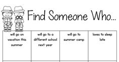 Free Printable: Find a Classmate Who (Icebreaker