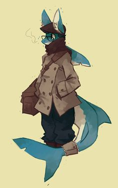 furry dragon drawings