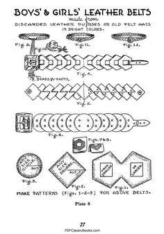 A Textbook of Leathercraft: Projects and Patterns