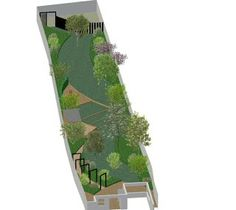 Multiple Ideas For Long Thin Garden Designs Tuin Pinterest