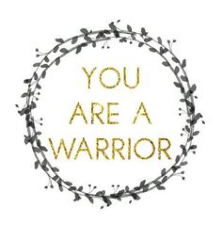 You are a warrior. No matter what you are going through in life, you have a deep-seeded strength within you that will help you overcome all odds. Believe in yourself! Print out this free piece of art and frame to keep inspired and motivated!