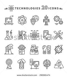 Isometric icons set with robotic machinery and operators