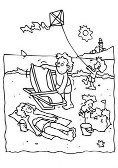 1000+ images about Beach Coloring Pages on Pinterest