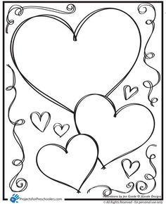 Valentine Hearts Clip Art, in sizes ranging from 3/4