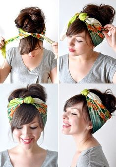 How To Create A Hairstyle With A Bandana Points Fold And Head Bands