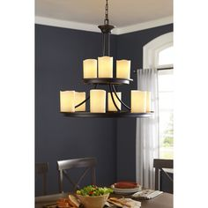 Allen Roth Harpwell 9 Light Oil Rubbed Bronze Chandelier At Lowes