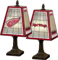 Nicklas Lidstrom Detroit Red Wings Lamp with Official Game