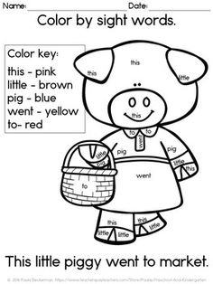 Nursery rhyme free printable colouring sheets, with a farm