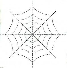 a spider web drawing. Students could easily draw a spider
