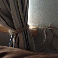 Tie Back Burlap Curtains With Twine Genius! Rustic Chic
