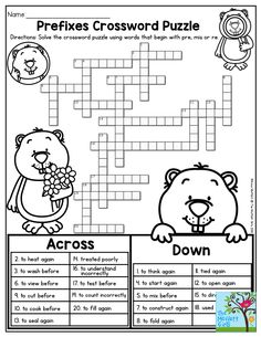 Antonyms crossword puzzle, free to print (PDF file). CCSS