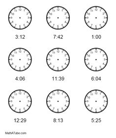 1000+ images about Telling Time Printables on Pinterest