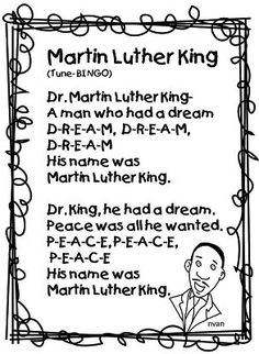 Here is one Martin Luther King poem that's part of my