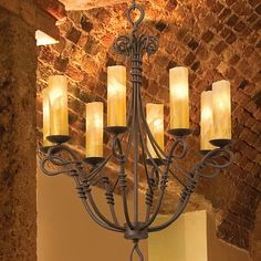 Rustic Chandeliers Vine Eight Light Wrought Iron Chandelier At Rocky Mountain Cabin Decor