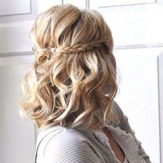 Cut Curly Party Hairstyle For Medium Length Hair Hair