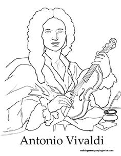 Composers, Coloring and Coloring pages on Pinterest
