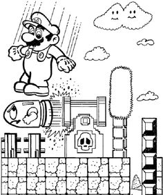1000+ images about Mario pages for Hunt to color on