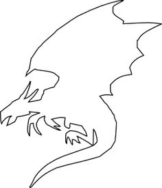 Dragon Outline by Ketharin.deviantart.com on @deviantART