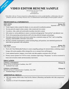 Video Resume Examples Top 8 Music Video Director Resume Samples