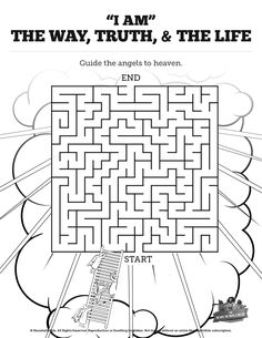 M/i Am The Way The Truth The Life And Coloring Pages