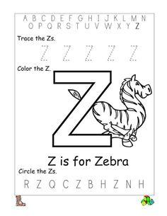 Letter Zz beginning letter sounds worksheet. Great