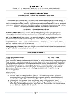 1000 Images About Best Mechanical Engineer Resume