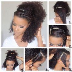 Idée Coiffure Cheveux Frisés Hairstyle Idea Curly Hair Cheveux