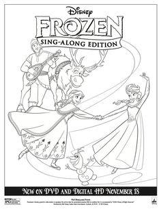 Ana de frozen un dibujo para colorear / a disney frozen