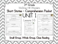 Wonders Third Grade Vocabulary Cloze Passages Unit 5