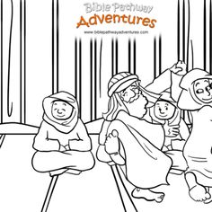 A coloring page for kids from the story, Facing the Giant