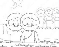 John the Baptist Preaching in the Wilderness coloring page