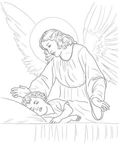 Guardian angels, Coloring pages and Coloring on Pinterest
