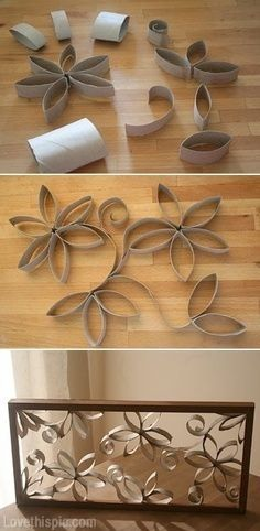 DIY Toilet Paper Rolls Wall Decor Pictures Photos And Images For