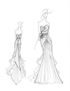 1000+ images about Bocetos de vestidos on Pinterest