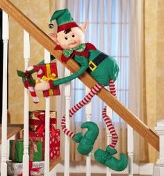 christmas elf chair covers hanging outdoor ikea table legs decoration shoes, holiday stockings & bells 4-pcs | leg ...