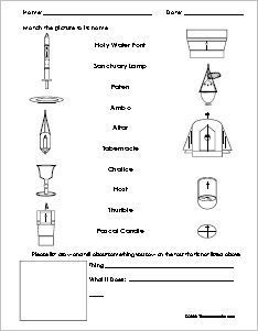 Holy Communion and Reconciliation Worksheet and Activity