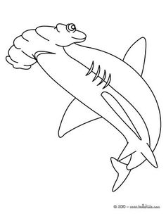 Shark teeth pattern. Use the printable outline for crafts