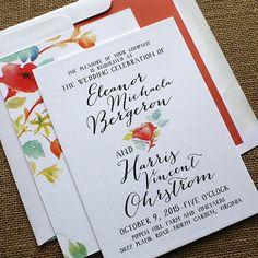 DIY English Garden Digital Wedding Invitation Set Happily