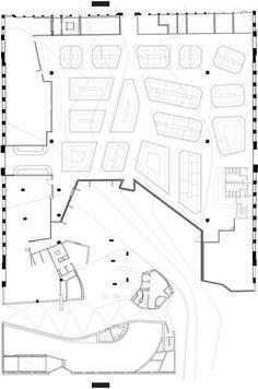 santa caterina market, miralles, market floor, plan