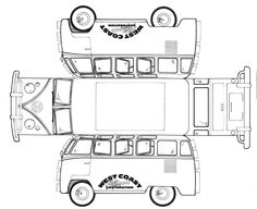 Vw vans, Volkswagen bus and Coloring pages on Pinterest