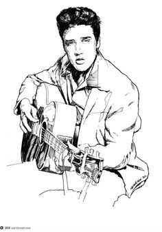Pencil drawings, Elvis presley and Charcoal on Pinterest