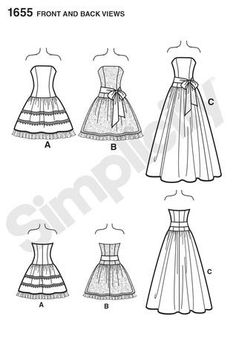 Simplicity dress patterns, Dress patterns and Formal