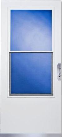 "ClimateRite 32"" x 80"" White Full-View Aluminum Storm ..."