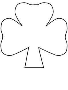 Large shamrock pattern. Use the printable outline for