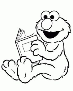 Elmo coloring page, could print out and have a kids craft